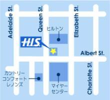 H.I.S.ブリスベン支店地図