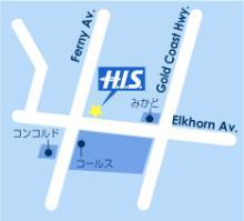 H.I.S.ゴールドコースト支店地図