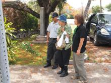 H.I.S.≫車いすで行く!バリアフリー旅行ハワイ、グァム、サイパン推進隊-SPN日本人碑立ち姿
